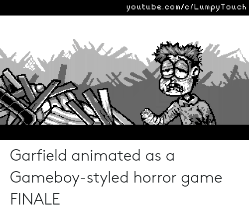 youtube.com, Game, and youtube.com: youtube.com/c/LumpyTouch Garfield animated as a Gameboy-styled horror game FINALE