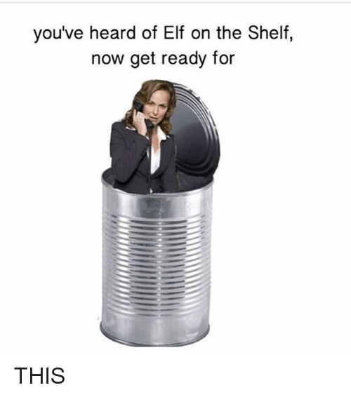Elf, Elf on the Shelf, and Memes: you've heard of Elf on the Shelf,  now get ready for THIS