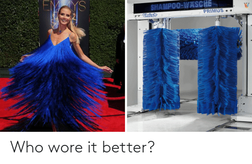 Who Wore It Better, Primus, and Who: YS  SHAMPOO-WASCHE  PRIMUS 4.  Christ Who wore it better?