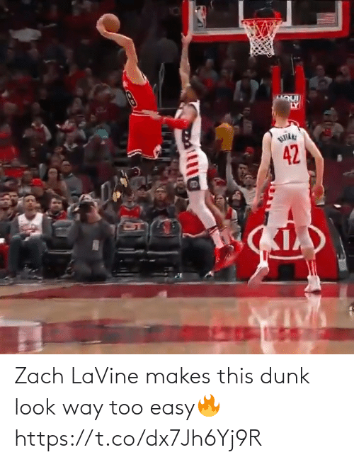 Dunk: Zach LaVine makes this dunk look way too easy🔥 https://t.co/dx7Jh6Yj9R