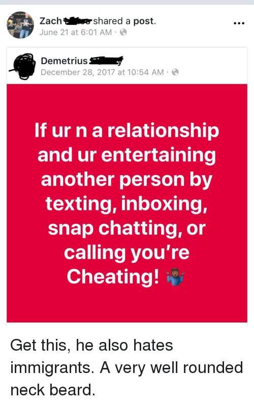 is chatting cheating