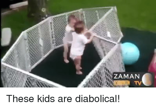 diabolical: ZAMAN  TV These kids are diabolical!