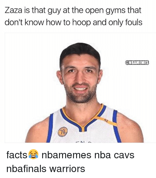 hooping: Zaza is that guy at the open gyms that  don't know how to hoop and only fouls  @NBAMEMES facts😂 nbamemes nba cavs nbafinals warriors