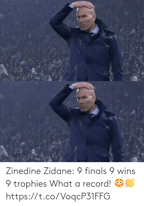 Finals: Zinedine Zidane:  9 finals 9 wins 9 trophies  What a record! 😳👏 https://t.co/VoqcP31FFG