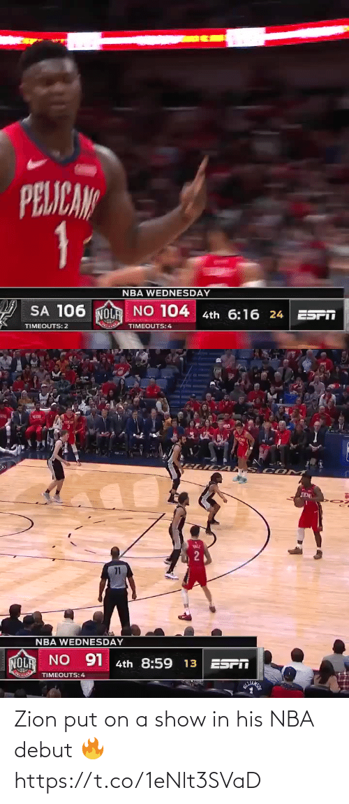 ballmemes.com: Zion put on a show in his NBA debut 🔥 https://t.co/1eNlt3SVaD